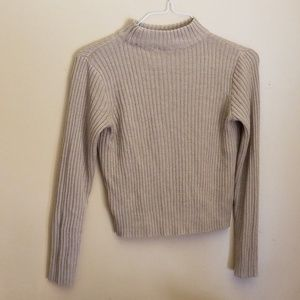 High neck comfy sweater